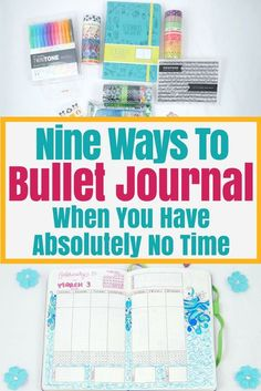 Stop saying you don't have time to bullet journal. If you want to bullet journal, you'll learn to make the time. Need some help? Try these 9 inspirational bullet journal productivity tips that will help you keep a bujo no matter if you have nothing to do or you're a busy working mom (like me!). #bulletjournal #bulletjournalinspiration #bujo #bujoideas