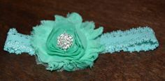 Baby Shabby Chic Flower headband by MyBlessedMessGifts on Etsy