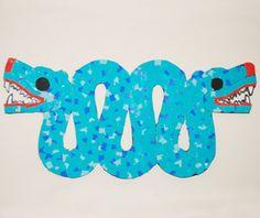 ** ACTIVITE ** Fabriquer un serpent Aztèque en mosaïque