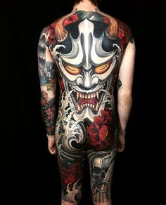 Images of japanese hannya mask tattoo - Hannya Maske Tattoo, Backpiece Tattoo, Mask Tattoo, Yakuza Tattoo, Japanese Back Tattoo, Japanese Tattoo Designs, Japanese Sleeve, Bodysuit Tattoos, Body Tattoos