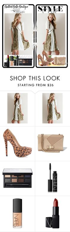 """""""Knitted Belle Boutique # 3"""" by zijadaahmetovic ❤ liked on Polyvore featuring Salvatore Ferragamo and NARS Cosmetics"""