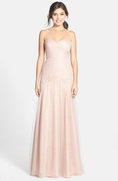Jenny Yoo 'Ava' Cross Paneled Tulle Gown | Nordstrom