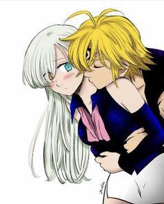 Nanatsu no Taizai // The Seven Deadly Sins Elizabeth Seven Deadly Sins, Seven Deadly Sins Anime, 7 Deadly Sins, Yandere Anime, Otaku Anime, Manga Anime, Anime Art, Anime Angel, Anime Demon