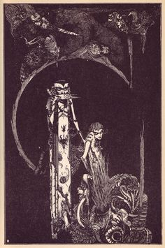 Illustration by Harry Clarke for a 1925 edition of Goethe's Faust. Love this for some unusual reason.. :)