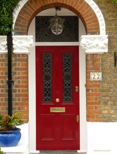 Door & porch, style of our home. Victorian Front Doors, Victorian Porch, Victorian Homes, Front Door Design, Front Door Colors, Front Door Porch, House Front, Yellow Doors, Front Entrances