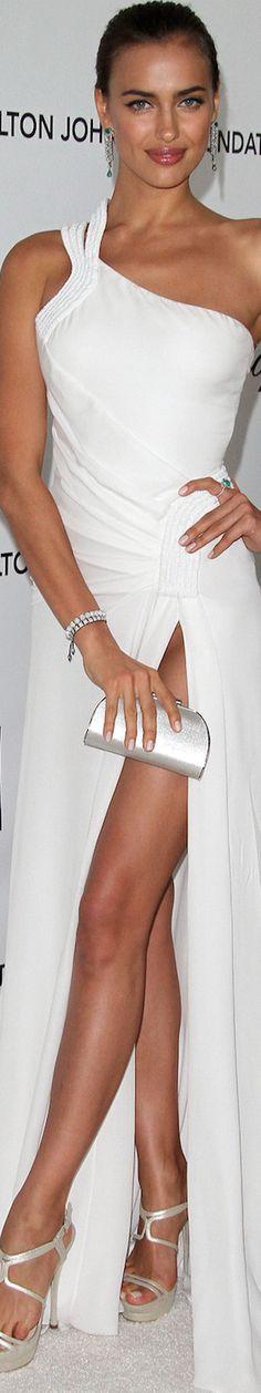 Irina Shayk in Versace 2012 Elton John Oscar Party p/b LOLO ~ via Marguerite Burrill