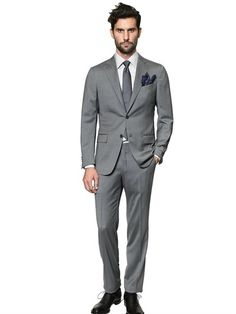 'milano Easy' Wool Satin Suit