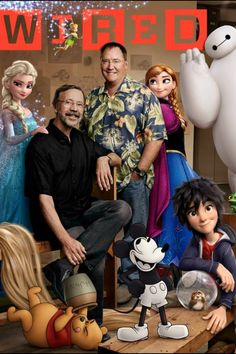 The characters of the Disney revival and the people who created them :) It's John Lasseter!!