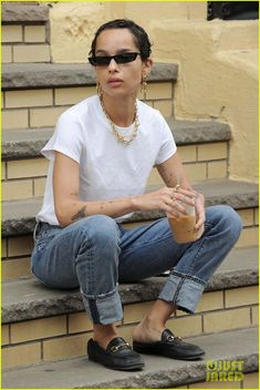 Zoe Kravitz Looks Cooler Than Anyone Else on a Coffee Run