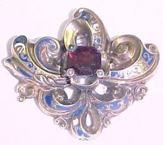 Victorian 1860-1870 14k Gold Hinged Cuff with Garnets and Seed Pearls