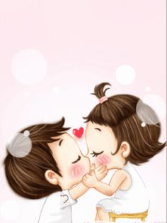 Kissi do 😋💏❤️ Cute Chibi Couple, Cute Couple Cartoon, Cute Love Cartoons, Cute Couple Quotes, Anime Love Couple, Cute Couple Pictures, Cute Love Images, Cute Love Stories, Cute Love Gif
