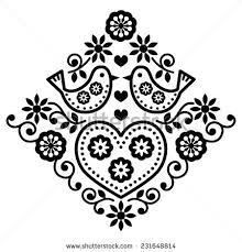 Folk art floral black vector pattern with birds vector art illustration Embroidery Designs, Folk Embroidery, Learn Embroidery, Gravure Illustration, Art Et Illustration, Stock Illustrations, Vector Pattern, Pattern Art, Free Pattern