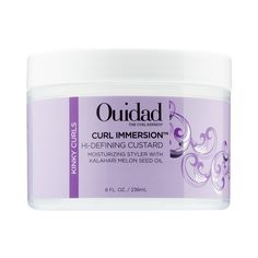 Shop Ouidad's Curl Immersion™ Hi-defining Custard at Sephora. It helps balance and replenish moisture and restore the hair's curl definition