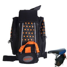Waterproof Bicycle Bag Bike Pannier Saddle Pouch Outdoor  Cycling Seat Bag With warning Reflective stripe