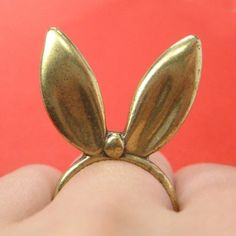 ONE DOLLAR SALE - 3D Bunny Rabbit Animal Ears Ring Sizes 5 and 6 $1 #bunny #rabbit #ring #jewelry