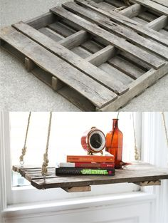 Ingeniosa mesa colgante