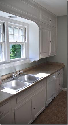 Add trim to the front of kitchen cabinet doors to give more ...