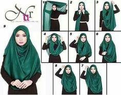 & tq for simply toturial hijab Modest Fashion Hijab, Stylish Hijab, Muslim Fashion, Simple Hijab Tutorial, Hijab Style Tutorial, Muslim Hijab, Muslim Dress, Hijabs, Tudung Shawl