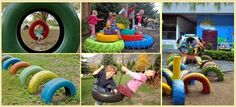 Use Old Tires For Inside And Outside Design - Find Fun Art Projects to Do at Home and Arts and Crafts Ideas