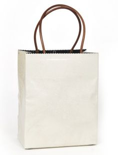 Brave Brown Bag - waxed leather in antique porcelain