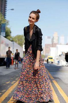 I love hard & soft ; leather & floral!