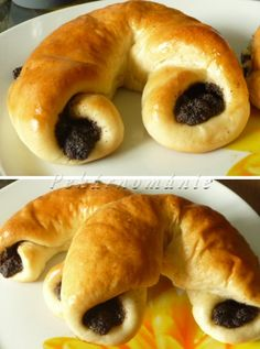 martinské rohlíčky Bread And Pastries, Bagel, Doughnut, Cooking Recipes, Sweets, Menu, Baking, Ethnic Recipes, Fine Dining