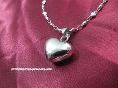 Ladies 316L Surgical Steel Small Heart Pendant