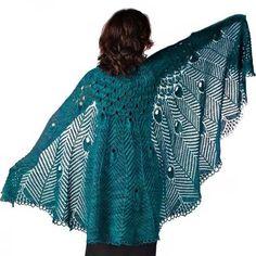 This knits up beautifully!  Ravelry: Pretty As A Peacock Shawl pattern by Jae Koscierzynski