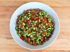 Israeli Salad Recipe Salads with persian cucumber, tomatoes, minced onion, fresh parsley, extra-virgin olive oil, fresh lemon juice, salt