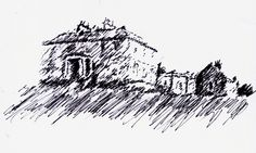 Old Haa symbister, hand sketch www.juliewilliamsondesigns.co.uk