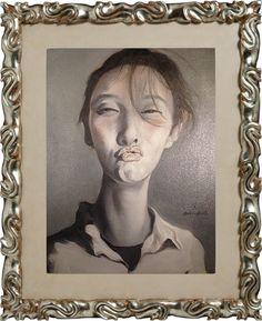 An Kun, Kissing Portrait/Selfie, 2014, oil on canvas. Collection www.kunstbroeders.com