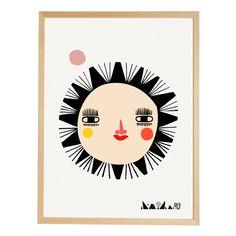 """Affiche """"the sun going danish"""" originale et décalée"""