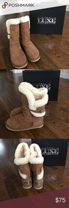 Nordic Shearling ShortAustralia Luxe Collection Tan suede with fur lined. Brand New Never worn. Purchased for my granddaughter for Christmas and she has never wore them. Australia Luxe Collectio  Shoes