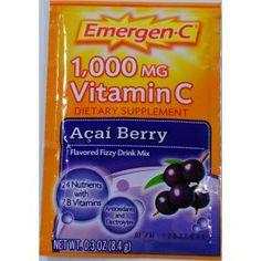 Emergen-C Dietary Supplement (Acai Berry) Keep your immune system up  #drink #mix #vitamins
