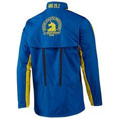 """adidas Boston Marathon 2013 Official Jacket - Men's """"Prime Blue / Vivid Yellow"""""""