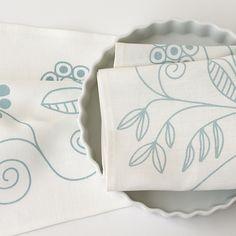Studiopatro Fleurish Tea Towel in Ocean –  an extra sweet treat!