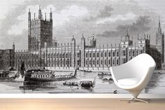Westminster Illustration Wall Mural