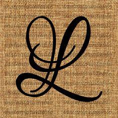 Monogramme première lettre L lettre clipart décalque de la