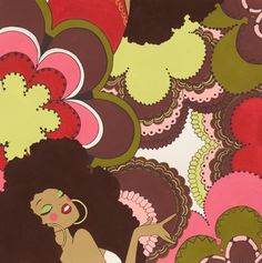Soul Sisters Fabric by the yard by Alexander Henry, Peach Color, inches/ For clutches/ Quilting/ Accent pillows/ Applique Sisters Coffee, Alexander Henry, Soul Sisters, Funky Fashion, Silk Painting, Peach Colors, Accent Pillows, Applique, African