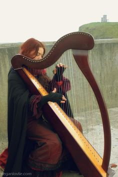 Celtic Harpist, Cliffs of Moher, Ireland