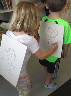 You have to see this fun drawing game for kids we played at our art summer camp in our children's art studio in Charlotte, NC.