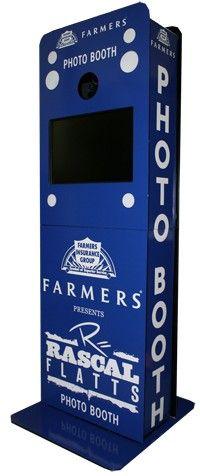 Farmers/Rascal Flatts photo booth #kiosk #photobooth #photography