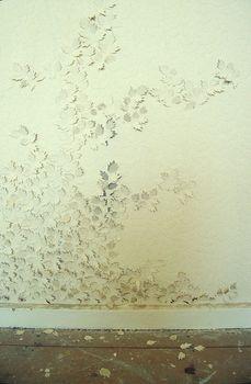 Catherine Bertola, if walls could talk..., 2002 found wallpaper,