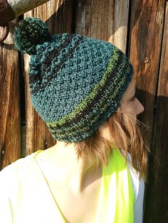 Knitted green hat