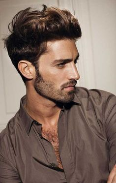 Cool Best Brown Messy Short Hair for Men Check more at http://mensfadehaircut.com/best-brown-messy-short-hair-for-men/