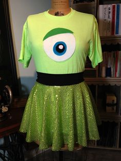 Mike W. Inspired FUN Running Costume Skirt/T-shirt! Perfect for Disney Races!
