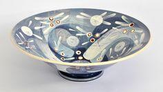 RAMP CERAMICS: Slip decorated Earthenware Bowl H:110 x W: 350mm.