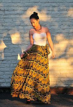 Beautiful yellow maxi skirt