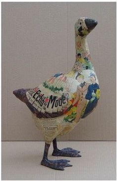 What an excellent papier mache goose! I think it's by Nicole Jacobs and Aude Goalec Choulot .