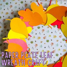 If you need a little inspiration to create a quick and easy autumn - fall craft for kids,  look no further than this paper plate leaf wreath craft. Acorn Crafts, Leaf Crafts, Paper Plate Crafts, Paper Plates, Easy Fall Crafts, Crafts For Kids To Make, Fun Fall Activities, Drawing Activities, Wreath Supplies